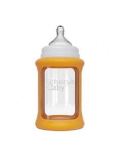Biberon en Verre Color Change 240ml - Orange