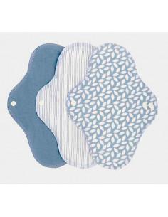 Serviette hygiénique Regular coton bio (3pc) - Denim