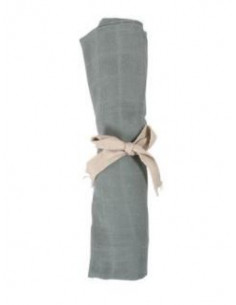 Tetra mousseline coton Bio - Moos green