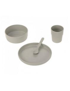 Coffret repas cellulose PP - Uni Warm grey
