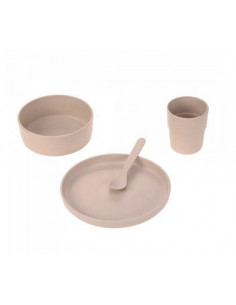 Coffret repas cellulose PP - Uni Powder Pink
