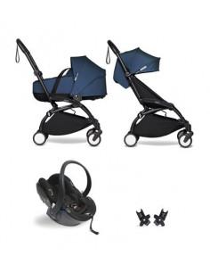 Poussette BABYZEN YOYO² nacelle, siège-auto, 6+ - Cadre noir/Coloris bleu airFR