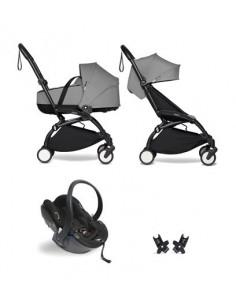 Poussette BABYZEN YOYO² nacelle, siège-auto, 6+ - Cadre noir/Coloris gris