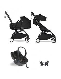 Poussette BABYZEN YOYO² nacelle, siège-auto, 6+ - Cadre noir/Coloris noir
