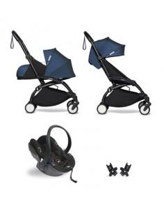 Poussette BABYZEN YOYO² Nné, siège-auto et 6+ - Cadre noir/Coloris bleu airFR