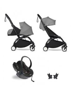Poussette BABYZEN YOYO² Nné, siège-auto et 6+ - Cadre noir/Coloris gris