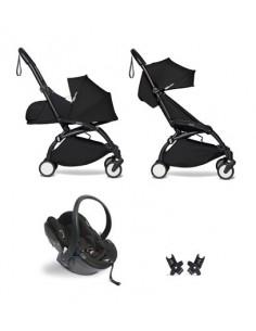 Poussette BABYZEN YOYO² Nné, siège-auto et 6+ - Cadre noir/Coloris noir