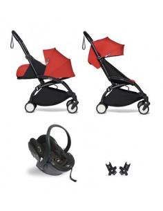 Poussette BABYZEN YOYO² Nné, siège-auto et 6+ - Cadre noir/Coloris rouge