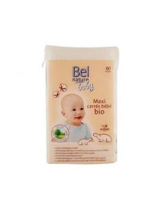 Maxi carrés coton bio - 60 pcs