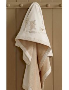 Couverture coton velours 72 x 100 cm